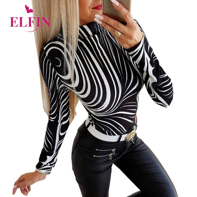 Black Long Sleeve Women Tshirt Punk Style O-neck Harajuku Ladies Tops Womens Clothing 2020 SJ5470R