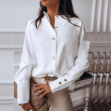Load image into Gallery viewer, Elegant White Blouse Shirt Women's Long Sleeve Buttton Womens Tops and Blouses Solid Spring 2020 New Ladies Tops Female Tunic - Y O L O Fashion Store
