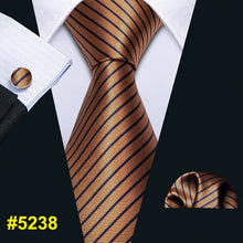 Load image into Gallery viewer, Mens Wedding Tie Gold Paisley Silk Tie Hanky Set Barry.Wang 8.5cm Fashion Designer Neck Ties For Men Party Dropshipping FA-5150