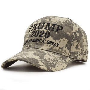 New Summer Fashion Trump 2020 Hat Camouflage Baseball Cap MAGA Snapback Hats Casquette Outdoor Sports USA Flag Camo Trump Cap