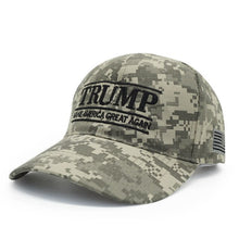 Load image into Gallery viewer, New Summer Fashion Trump 2020 Hat Camouflage Baseball Cap MAGA Snapback Hats Casquette Outdoor Sports USA Flag Camo Trump Cap