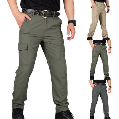 SHUJIN Men Cargo Pant Men Multi-Pocket Overall Male Combat Trousers Casual Tooling Pants Army Green Cargo Pants Men Size S-4XL - Y O L O Fashion Store