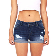 Load image into Gallery viewer, women's shorts Women Low Waisted Washed Ripped Hole Short Mini Jeans Denim summer Shorts feminino