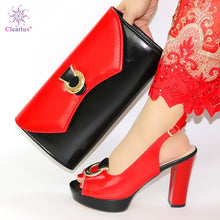 Load image into Gallery viewer, New Arrival Italian Shoes with Matching Bags Set Decorated with Rhinestone Women Shoes and Bags To Match Set Italy Party Pumps