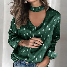 Load image into Gallery viewer, Sexy Off Shoulder Floral Leopard Print Blouse Women Shirts Autumn Lantern Long Sleeve Tops Spring Halter Backless Ladies Blouses - Y O L O Fashion Store