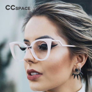 45045 Brand Designer Optical Lady Cat Eye Glasses Frames For Women EyeGlasses Metal Temple Fashion Eyewear - Y O L O Fashion Store