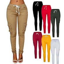 Load image into Gallery viewer, High Quality Women Cargo Pants Sexy Ladies Casual Harem Tactical Pant Women Military Clothing Multi-Pocket Joggers Sweat Pants - Y O L O Fashion Store