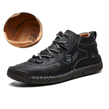 Load image into Gallery viewer, Luxury Leather Shoes Men Sneakers Trainers Lace-up Flats Driving Casual Comfort Loafers handmade sewing Footwear