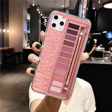 Load image into Gallery viewer, Makeup Eyeshadow Palette Phone Case For iPhone 11Pro Max XR XS Max matte Soft Silicone Cover For iPhone 7 8 6S Plus 8Plus 7Plus