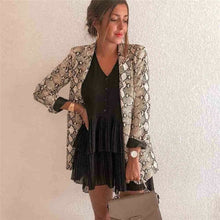 Load image into Gallery viewer, 2019 Fashion Women Ladies Snakeskin Long Sleeve Suit Cardigan Coat Blazer Office Jacket Warm Overall Suit Robe Femme streetwear - Y O L O Fashion Store
