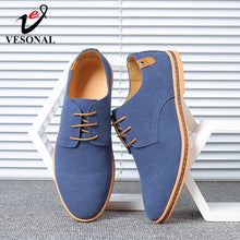 Load image into Gallery viewer, VESONAL Brand 2019 Spring Suede Leather Men Shoes Oxford Casual Classic Sneakers For Male Comfortable Footwear Big Size 38-46 - Y O L O Fashion Store