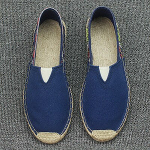 Plus Size 35-45 Women Sewing Flax Shoes Slip on Loafers Casual Shoes Woman Espadrilles Hemp Canvas Flat Shoes - Y O L O Fashion Store