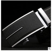 Load image into Gallery viewer, linshe crocodile men belt  The real thing  men  Automatic buckle  Genuine leather  The belt  male  youth  business  leisure - Y O L O Fashion Store