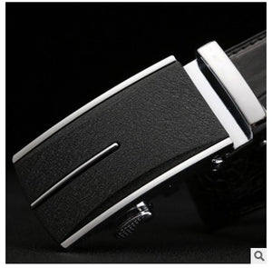 linshe crocodile men belt  The real thing  men  Automatic buckle  Genuine leather  The belt  male  youth  business  leisure - Y O L O Fashion Store