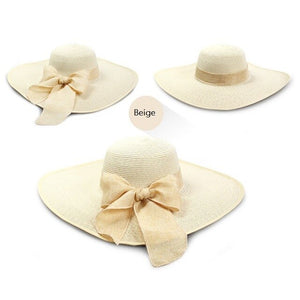 2018 Ladies Summer Hats With Brim New Straw Hats For Women Beach Sun Hats Floppy Sunhat,Chapeau Femme,Chapeu De Praia - Y O L O Fashion Store