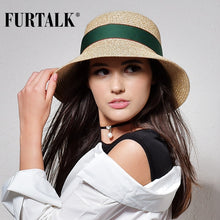 Load image into Gallery viewer, Furtalk Summer Hat For Women Straw Hat For Beach Sun Hat Travel Bucket Hat Panama - Y O L O Fashion Store