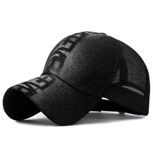 Load image into Gallery viewer, Summer Graffiti Trucker Hat with Doodling letter Breathable mesh Curved bill Adjustable Baseball Cap for Men and Women Black - Y O L O Fashion Store