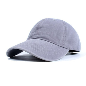 High Quality Washed Cotton Adjustable Solid Color Baseball Cap Unisex Caps Fashion Leisure Dad Hat Snapback Cap - Y O L O Fashion Store