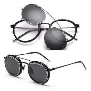 New Round Glasses Frames TB710 With Polarized Clip For Men And Women Eyeglasses with original package eyewear Oculos