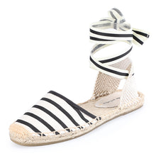 Load image into Gallery viewer, Tienda Soludos Espadrilles Schuhe 2019 Sommer frauen Strappy Off-duty Tage Sohle Frauen Wohnungen Gladiator Gingham Ankle Strap - Y O L O Fashion Store