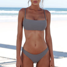 Load image into Gallery viewer, Solid Sexy Micro Bikini Set Women Swimming Suit Push Up Biquini Two-Piece Swimwear Thong Bathing Suit Brazilian Swimsuit W9516 - Y O L O Fashion Store