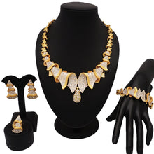 Load image into Gallery viewer, NEW DESIGN  fashion jewelry sets gold jewelry sets new design for african woman necklace jewellery african beads jewelry set