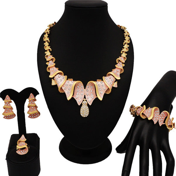 NEW DESIGN  fashion jewelry sets gold jewelry sets new design for african woman necklace jewellery african beads jewelry set