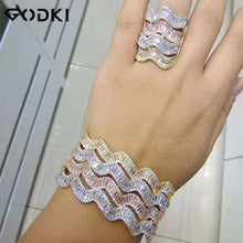 Load image into Gallery viewer, GODKI Luxury Saudi Arabia Bangle Ring Set For Women Full Micro C Z Dubai Jewelry Set - Y O L O Fashion Store