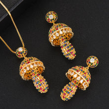 Load image into Gallery viewer, GODKI Luxury Water Drop Cubic Zirconia Nigerian Necklace Earring Jewelry Set For Women - Y O L O Fashion Store