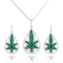 Load image into Gallery viewer, GODKI Luxury Flowers Cubic Zirconia Necklace Earring Jewelry Set For Women Dubai Jewelry Set - Y O L O Fashion Store
