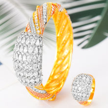 Load image into Gallery viewer, GODKI Luxury Saudi Arabia Bangle Ring Set For Women Full Micro  CZ  Dubai Jewelry Set - Y O L O Fashion Store