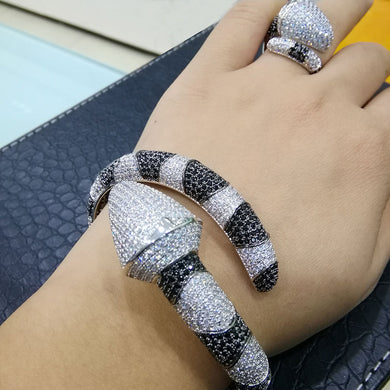 GODKI Luxury Snake African Bangle Ring Set Fashion Jewelry Sets For Women Wedding Engagement brincos para as mulheres 2018 - Y O L O Fashion Store