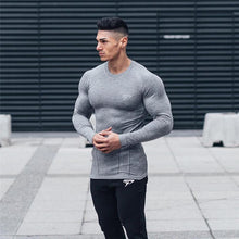 Load image into Gallery viewer, NEW Men Compression Quick dry Long sleeve T-shirt Man Gym Fitness Running t shirt Male Jogging Sports Workout Tight Tees Tops