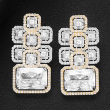 Load image into Gallery viewer, GODKI Famous Luxury High Jewelry Baguette CZ Stud Earring For Women Accessories Full Cubic Zircon Earrings pendientes mujer moda - Y O L O Fashion Store