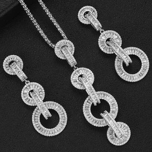 GODKI Luxury Link Chain Necklace Earring Set Dubai Jewelry Sets For Women Wedding Engagement brincos para as mulheres 2019 - Y O L O Fashion Store