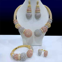 Load image into Gallery viewer, GODKI Famous Brand Disc Balls Luxury Nigerian Dubai Jewelry Sets For Women Cubic Zircon Wedding Bridal Jewelry Sets 2019 - Y O L O Fashion Store