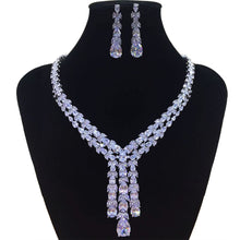 Load image into Gallery viewer, GODKI Trendy Luxury 2PCS Tassels Drop Statement Jewelry Set For Women Wedding Full Cubic Zircon Dubai Bridal jewelry Set 2019 - Y O L O Fashion Store