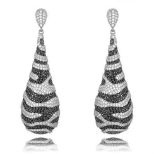 Load image into Gallery viewer, GODKI Jimbora New Trend Zebra Leopard Long Round Pendant Earrings for Bridal Wedding Engagement Daily Party Dangle Drop Earrings