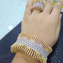 Load image into Gallery viewer, GODKI Jimbora New Luxury Trendy Gorgeous Bangle Ring Set Jewelry Set For Women Wedding Crystal CZ aretes de mujer modernos 2020 - Y O L O Fashion Store