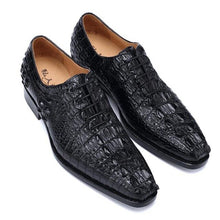 Load image into Gallery viewer, Sipriks Mens Italian Handmade Crocodile Skin Leather Dress Oxfords Luxury Brand Male Wedding Social Gents Suits Shoes Blake Welt