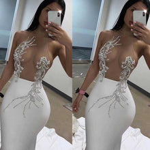 Load image into Gallery viewer, Wholesale 2020 New woman's dress black White Mesh perspective Sexy nightclub celebrity cocktail party bandage dress