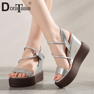 DORATASIA Brand New Fashion INS Hot Ladies Wedges High Heels Platform Women Shoes Woman Casual Summer women's Sandals Female
