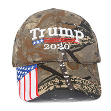 Load image into Gallery viewer, 2020 New Trump Hat Baseball Caps Embroidery USA Flag Cotton Trump Hats Outdoor Camouflage