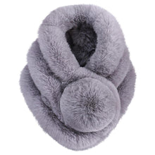 Load image into Gallery viewer, Women Winter Warm Scarf Fashion Thicken Fur Imitation Fur Grass Scarve fur scarf women accessories Winter Shawl Plush Scarfs