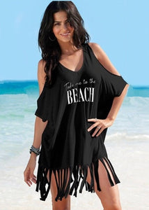Womens Beach Dress Bikini Cover Up Swimwear Maxi Wrap Skirt Sarong Kimono Kaftan Summer Chiffon Tassel Hooded Batwing Sleeve Top