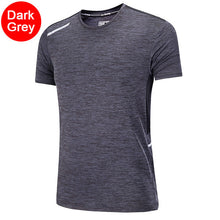 Load image into Gallery viewer, Men Workout T Shirts Quick Dry Short Sleeve Outdoor Training Sportswear Tee Breathable Mesh Running Bodybuilding Shirt Man