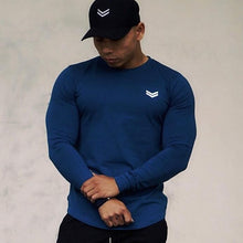 Load image into Gallery viewer, Autumn Fitness Gym Shirt Men Quick Dry Fit Running T Shirt Long Sleeve Rashgard Men Sport Shirt Solid Workout Tshirt Sportswear
