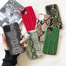 Load image into Gallery viewer, crocodile Texture soft silicone phone case For iphone 11 pro XS MAX X XR 7 8 6 6S plus Snake Skin Pu Leather cover coque Fundas