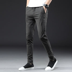 Brands Men pants 2020 New summer Design Casual Cotton Slim Pant male Trousers Fashion Business Man
