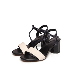 FEDONAS Summer New Fashion Casual Women Cow Leather Sandals Mixed Colors Narrow Band Front & Rear Strap Comfortable Shoes Woman